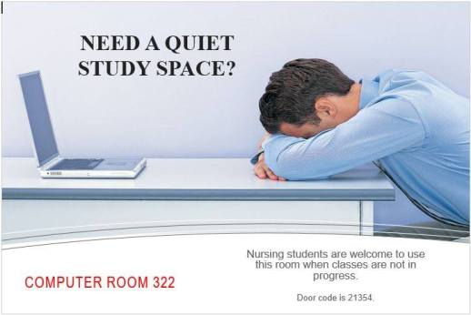 announcement study space
